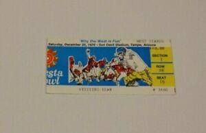 1976 FIESTA BOWL FULL TICKET 12/25 RARE WYOMING COWBOYS VS OKLAHOMA SOONERS