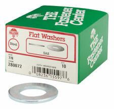 Hillman  SAE Flat Washers  7/8 in. Zinc-Plated  Steel  10 pk