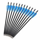 """12x 17"""" 20"""" 22"""" Carbon Arrows Crossbow Bolts for Crossbow Hunting Archery Quiver"""