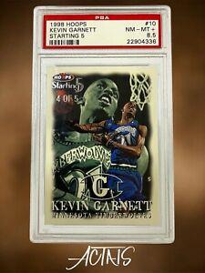 1998 Hoops STARTING 5 KEVIN GARNETT PSA 8.5 SUPER RARE 90s CARD GRAIL SSP