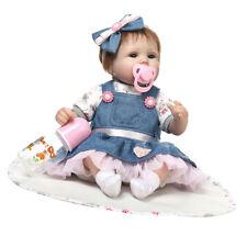 "Lifelike Vinyl 17"" Reborn Doll Kits Newborn Baby Toddler Doll Birthday Gifts"