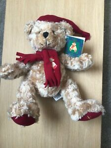 Rare Harrods 1999 Christmas Bear -Hand/Glove Puppet Excellent Condition With Tag