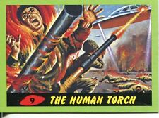 Mars Attacks Heritage Green Parallel Base Card #9    The Human Torch