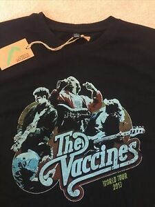 The Vaccines - World Your 2013T-Shirt - Black Small New Looking