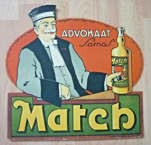Werbung, Original Match Werbeschild Pappe                             (Art.5141)