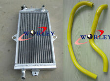 For SUZUKI Quadracer 250 LT250R 1985-1992 Aluminum Radiator & Silicone hose YEL