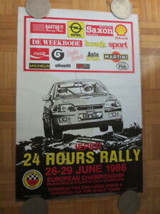 1986 Ieper 24 Hour Rally European Championship Poster - Opel Racing Car