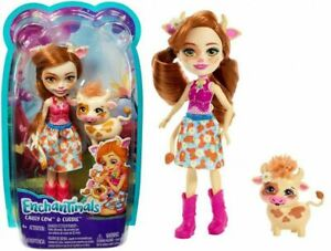 Enchantimals FXM77 Cailey Cow Doll and Curdle Figure (FNH22) *NEW*