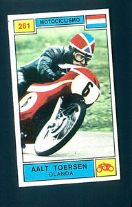 Figurina Campioni dello Sport 1969-70! N.261 Toersen! Motociclismo! Nuova!!