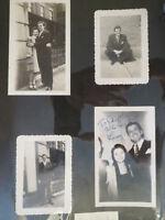 Larry Douglas Autographed Photo Fan Scrapbook pages 1940s