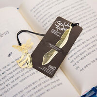 Lovely 1pc Metal Hollow Gold Plated Animal Feather Bookmark Paper Book Reading
