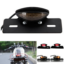 LED LICENSE PLATE TURN SIGNAL BRAKE TAIL LIGHT FOR BOBBER CAFE RACER CLUBMAN Mop