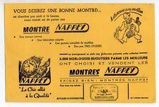Buvard publicitaire montre Nappey horloger bijoutier
