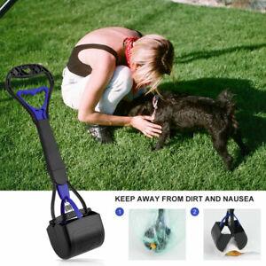 US Dogs Pooper Scooper Waste Scoop Clean Poop Long Jumbo Handle Pick Up Cat GIFT