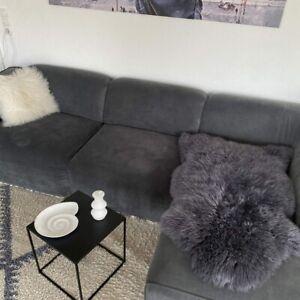 Australian Merino Sheepskin Grey Sheepskin Real Fur Tepichläufer