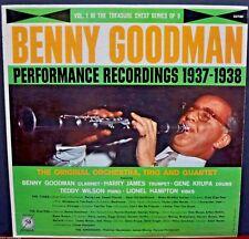 "Benny Goodman Performance Recordings 37'-38' Vol. 1, MGM E-3788 12""-LP 33 RPM"