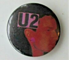 More details for u2 group old metal button badge from the 1980's vintage retro  bono