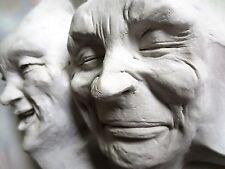 Handmade Sun & Moon Mask Wall Sculpture, Unique Home, Garden Art, Sale by Artist