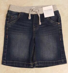 Boys Juvi Pull On Wide Elastic Waist Denim or Cotton Shorts: S(4)--M(5-6)