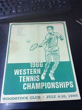 1966 Western Tennis Championships at Woodstock Club Official Program L9422