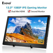 "Eyoyo 13.3"" HD 1080P HDR HDMI IPS Monitor 178° Dual Mini HDMI for PS3 PS4 Laptop"