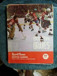 11/20/73 BOSTON BRAVES VS PROVIDENCE REDS A.H.L. HOCKEY PROGRAM RICK MIDDLETON