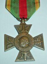 MEDALS-ORIGINAL FRENCH/FRANCE WW1 1914-1918 VOLUNTEER COMBATANTS CROSS LARGE