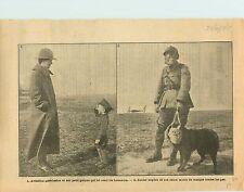 WWI US Army aviator/Tommy British Army Gas mask Dog France War 1917 ILLUSTRATION