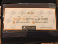 SHEEX Pro Cotton Performance Sheet Set Cal King Navy