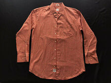 Peter Millar Gingham Plaid Long Sleeve Cotton Button Check Shirt Men's Sz M