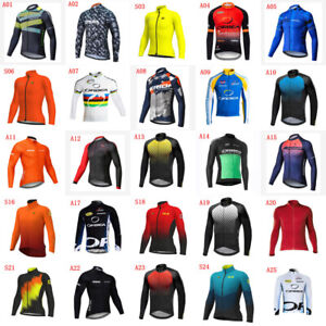 2020 Mens Running Shirts Cycling Long sleeve Jersey Autumn Shirt Bicycle Jerseys