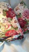 Ralph Lauren Constance Post Road Twin  Flat & Fitted Sheet Set Floral Pink Roses