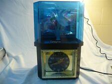 FIBER OPTIC CLOCK ROTATING FLOWER LIGHT LAMP