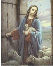 """Catholic Print Picture Jesus the Good Shepherd Our Lord 8x10"""" ready to be framed"""