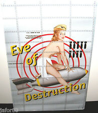 EVE OF DESTRUCTION, NOSE ART METAL SIGN, (APO & FPO CUSTOMERS WELCOME)