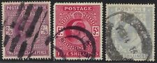 UK GB 1902 K. EDWARD 2sh 6d 5&10 sh WMK ANCHOR SG 262, 264, 265 CAT VALUE £800 1