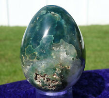 Kambaby Green OCEAN JASPER Quartz Crystal Egg Sphere Ball from Original Find