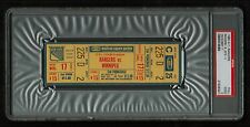 PSA 2 MADISON SQUARE GARDEN 1980 Unused NHL Hockey Ticket for Jets at Rangers