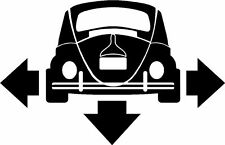 VW Beetle Classic Down and Out Car Window Sticker