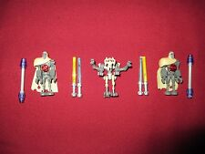 LEGO Star Wars minifigures LOT General Grievous,Magna Guards 4 Lightsabers