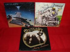 lot of 3 OUTLAWS ghost riders hurry sundown lady in waiting LP record