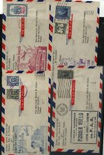 Central America 4 different Pan Am flight covers Kl0725