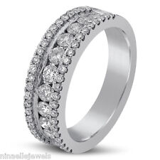 1.02CTW LADIES DIAMOND WEDDING BAND WOMEN'S CHANNEL SET B18