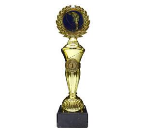 Golf/Minigolf-Pokal mit blauem Emblem und Ihrer Wunschgravur (Hoch1)