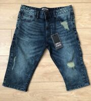 Mens Supply And Demand Denim Shorts Size W34 (L) Stretch Fit