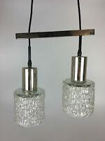 70er Jahre Deckenleuchte Hängelampe Kaskadenlampe Glas Chrome Space Age Design