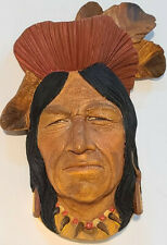 Bossons RARE Vintage Indian Chief Tecumseh Shawnee Head