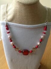 Natural Agate Strand/String Costume Necklaces & Pendants