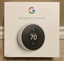 Google Nest T3017US 3rd Generation Programmable Smart Learning Thermostat White