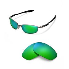 Walleva Polarized Emerald Replacement Lenses for Oakley Blender Sunglasses